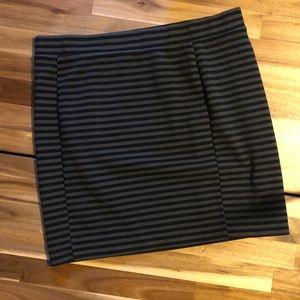 Madewell | strip skirt | large